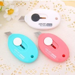 Dodoo Set Of 3 Mini Cute Craft Portable Knife Knives For Paper Plastic Bag Cuttery Packing