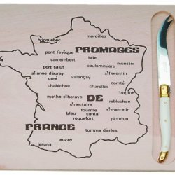Jean Dubost French Map Cheese Board With Cheese Knife