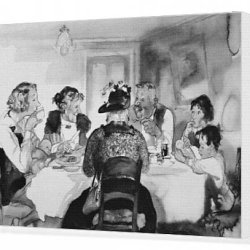 Canvas Print Of A Knife And Fork Tea At Bill S
