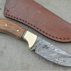 Huge Sale By Leather-N-Dagger | Professional High Quality Custom Handmade Damascus Steel Skinner Hunting Knife (100% Satisfaction Guaranteed) Ld116