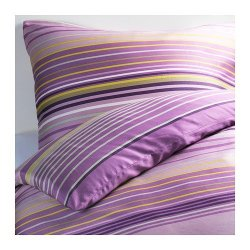 Ikea Palmlilja Duvet Covers Lilac 2Pc Twin Duvet Covers Stripe, Cotton Lyocell 207 Tc