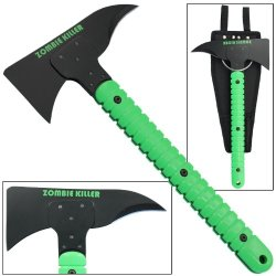 Zombie Killer Heavy Duty Throwing Axe Green Fire Breaker