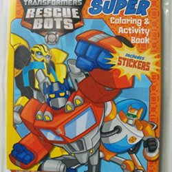 Transformers Rescue Bots Animated Series 144Pg Coloring And Activity Book With Stickers.