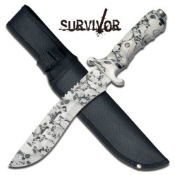 "Survivor ""Ranger"" 12"" Survival Knife - Skull Camo"