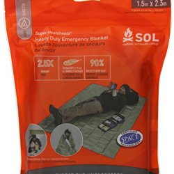 Survive Outdoors Longer Heavy Duty Emergency Blanket, 0.412 Pound