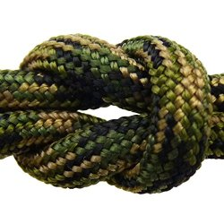 "Paracord - Guaranteed Milspec C-5040H Compliant, 8-Strand, Type Iii, Military Survival 550 Parachute Cord. 110 Ft. Hank Of Jungle Camo, Made In The U.S. From 100% Nylon. Includes Free Ebook: ""We Love Milspec Paracord And So Will You!"" And Your Own Copy Of"