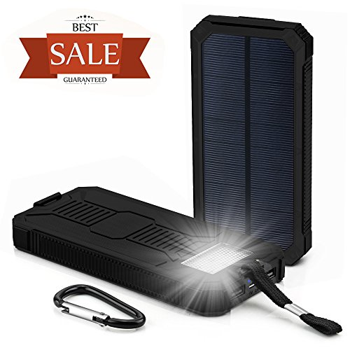 Solar-Charger-Grandbeing-15000mAh-Solar-Power-Bank-Portable-Dual-USB-Outdoor-External-Battery-Pack-for-iPhone-Samsung-HTC-Nexus-Smartphone-Gopro-Camera-GPS-and-Tablets-Black