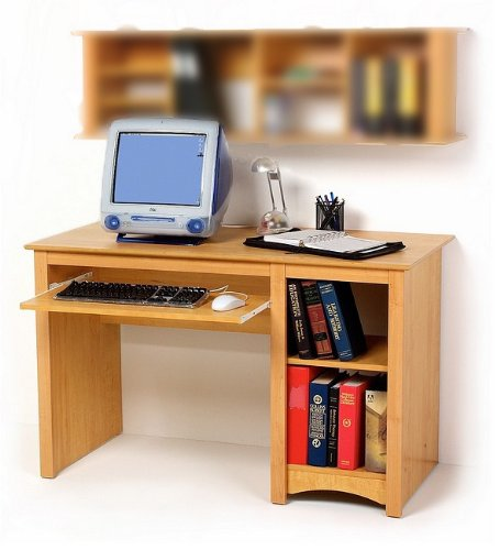 Picture of Comfortable Sonoma Home Office Computer Desk in Maple (B000WQRBKY) (Computer Desks)