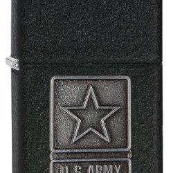 Zippo Black Crackle 1941 Replica Lighter With Us Army Emblem