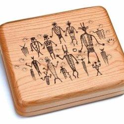 """5X6"""" Box With Double Pocket Knives - Petroglyphs"""