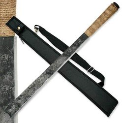 """Hk-1488 Hand Wxrlw Forged Jungle Lcwiugpa Machete Ayeuiu56 Hlbv23Rt 29.5"""" Overall, 7Mm Thickness. Nyo2Wz5W Hand Forged 1045 Carbon Steel Blade. Twine 65Nfs Wrapped Handle. Includes Nylon Sheath."""