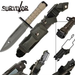 Survivor Special Ops Military Bayonet Knife Beige