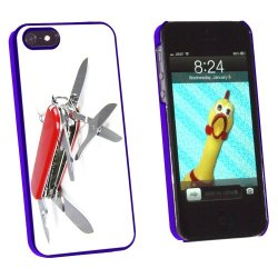 Graphics And More Multi-Function Knife Screwdriver - Snap-On Hard Protective Case For Apple Iphone 5/5S - Non-Retail Packaging - Blue
