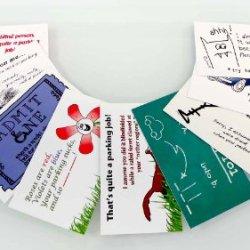 Bad Parking Cards: 9 Original Funny & Creative Designs (Box Of 250)