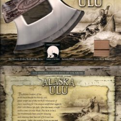 Alaska Ulu Knife Cultured Moose Antler Handle W/Dvd
