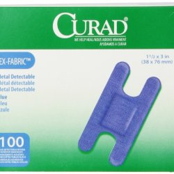 Curad Knuckle, Woven Blue Detectable Bandage, 100-Count
