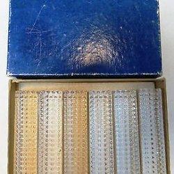 Complete Dazzling Set Of 6 Vintage Crystal Cut Glass Knife Rests Original Box