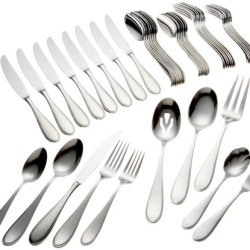 Yamazaki Austen 45-Piece Stainless Steel Flatware Set, Service For 8