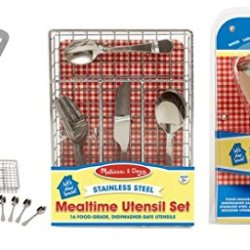Let'S Play House! Bundle - 2 Items: Mealtime Utensil Set And Stir & Serve Cooking Utensils