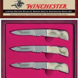 Winchester 22-41268 Limited Edition Wildlife Series; Ersatz Scrimshaw Set