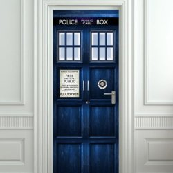 "Wall Door Sticker Who Police Box Movie Sticker, Mural, Decole, Film 30X79"" (77X200 Cm)"