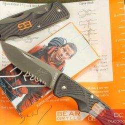 Gerber Bear Grylls Knife(Oem) Half Serrated Blade Knife High Carbon Stainless Steel Pocket Knife