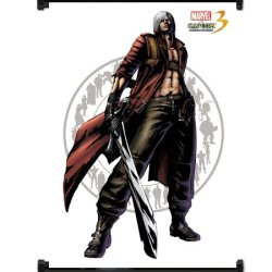 Marvel Vs Capcom 3 Dante Game Fabric Wall Scroll Poster (32X42) Inches