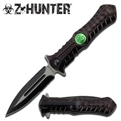 Z Hunter Black Vertebrae Zombie Knife Biohazard Zomber Hunter Survival Tatical Camping Hunting Pocket Knife