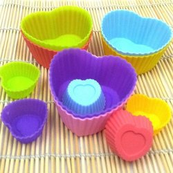 Love Heart Shape Soft Silicone Mould Candy Muffin Cup Cake Baking Mold Tool Cakecup Tools