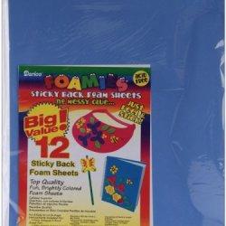 """Sticky Back Foam Sheets 9""""X12"""" 12/Pkg-Fashion Colors"""
