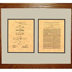 "Pocket Knife Patent Art Print In A Honey Red Oak Wood Frame (16"" X 20"")"