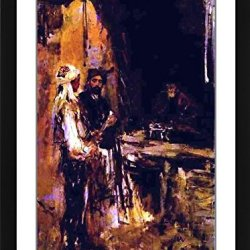 """Constantin Alexeevich Korovin Buying A Dagger - 21.25"""" X 27.25"""" Matted Framed Premium Archival Print"""