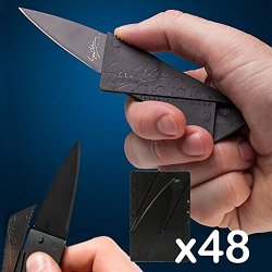(Wholesale Lot Of 48) Cardsharp Credit Card Folding Sharp Wallet Knife Survival Rm2764