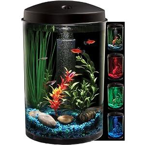 aquarius aquaview 360 aquarium kit with led light   3 gallon Sale