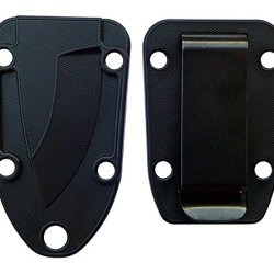 Esee Knives Molded Sheath And Belt Clip Plate (Black) For Candiru Knife