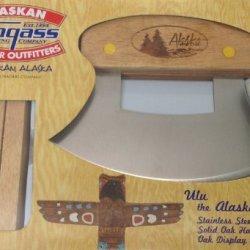 Alaska Ulu Wood Alaska W/ Pine Tree Handle Design