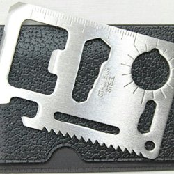 11 In 1 Stainless Steel Survival Credit Card Sized Multi Tool