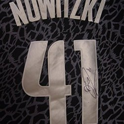 Dirk Nowitzki Dallas Mavericks Autographed Crazy Light Black #41 Jersey