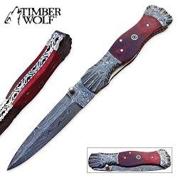 Timber Wolf Crimson Rain Pocket Knife