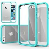 iPhone 5S Case, Caseology [Clearback Bumper] Apple iPhone 5/5S Case [DIY Customization] [Turquoise Mint] Scratch-Resistant Clear Back Cover [Drop Protection] TPU Hybrid Fusion Best Apple iPhone 5/5S clear case (for Apple iPhone 5/5S Verizon, AT&T Sprint, T-mobile, Unlocked)