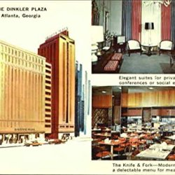The Dinkler Plaza Atlanta Georgia Original Vintage Postcard