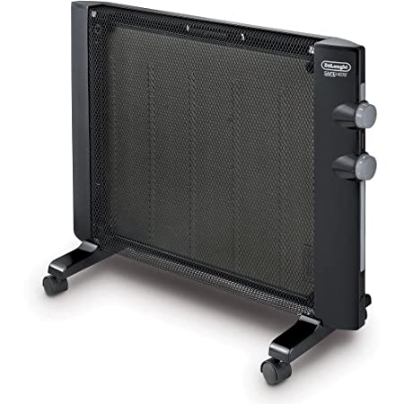 Ideal for smaller spaces, the De'Longhi Mica Panel Heater uses micathermic technology for efficient, consistent, silent heating. Slender, stylish and compact, this heater won't clutter your space and can even be mounted to the wall for a modern loo...