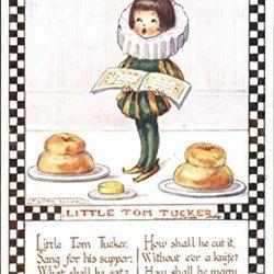 Little Tom Tucker Nursery Rhymes Original Vintage Postcard