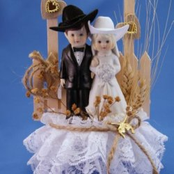 Western Pride Personalized Western Wedding Cake Topper