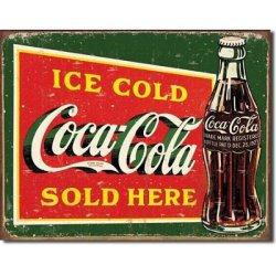 Ice Cold Coca Cola Sold Here Coke Distressed Retro Vintage Tin Sign
