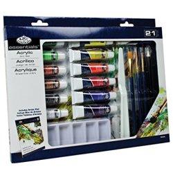 Royal & Langnickel Essentials 21 Piece Acrylic Painting Box Set