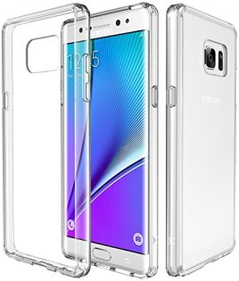 Galaxy-Note-7-Case-KaptronTM-Flexible-and-Transparent-Note-7-Phone-Case-Protector-From-Common-Scratches-and-Drops-Hard-Back-TPU-Bumper-Absorbs-Shocks-and-Protects-Samsung-Galaxy-Note-72016-Clear