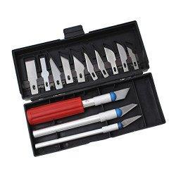 Cutting Tool Blade Set For Small Polymer Clay Cane Plastic Cloth Thin Metal Film Black