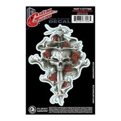 Planet Waves Guitar Tattoo, Dagger Rose Skull