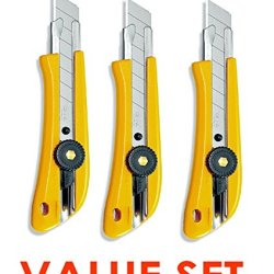 Olfa 5003 L-1 18Mm Ratchet-Lock Heavy-Duty Utility Knife Value Set Of 3 (With Our Shop Original Product Description)